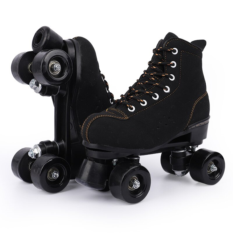 Litimee Unisex Outdoor Black Roller Skates For Beginner In 2021 Black Roller Skates Roller Skates Shoe Laces