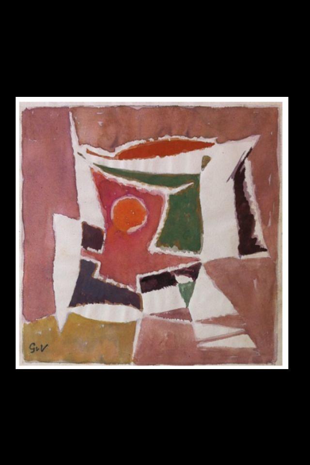 Geer Van Velde Composition C 1960 Aquarelle Et Gouache