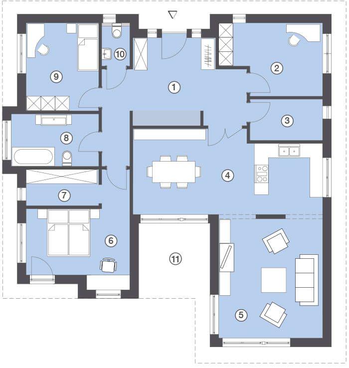 hommage bungalow 130 hanlo h user haus gestaltungsideen pinterest grundrisse hausbau. Black Bedroom Furniture Sets. Home Design Ideas