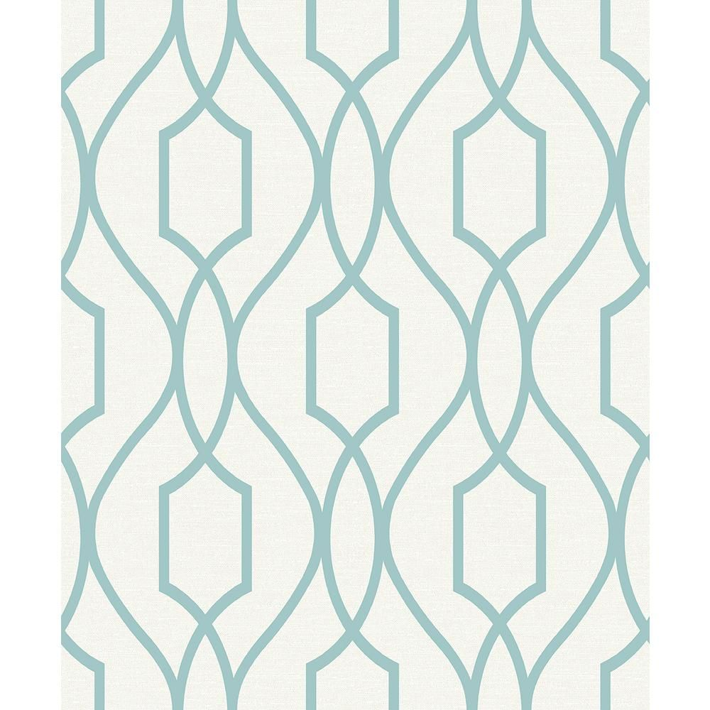 Advantage Evelyn Teal Trellis Paper Strippable Roll Covers 56 4 Sq Ft 2809 87712 The Home Depot In 2021 Teal Trellis Wallpaper Trellis Wallpaper Blue Trellis Wallpaper