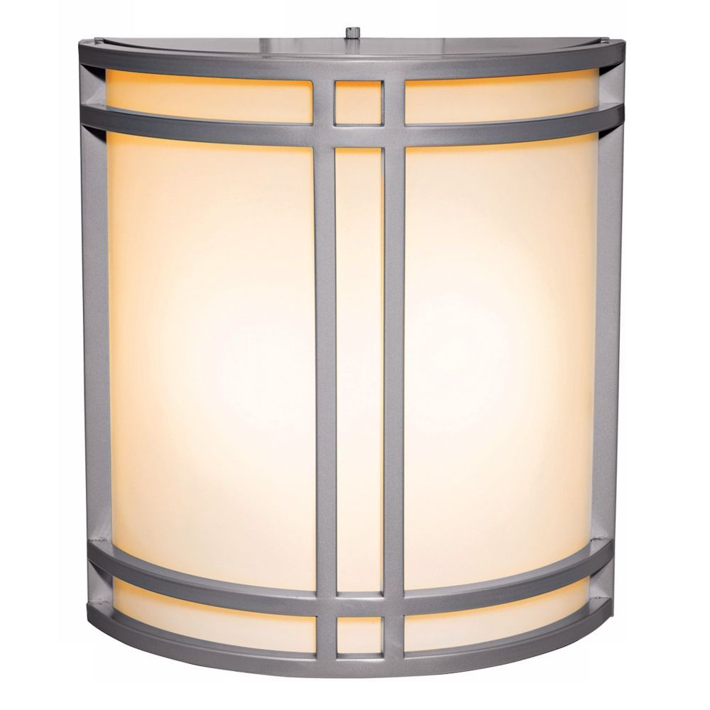 Artemis satin silver energy efficient outdoor wall sconce style