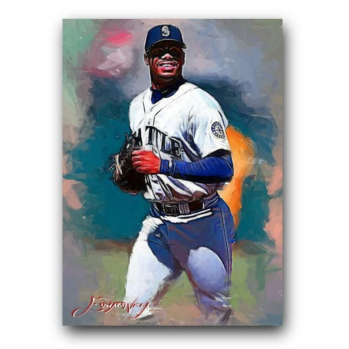 b0b8bfd661 Ken Griffey Jr #41 Sketch Card Limited 16/50 Edward Vela Signed  #SeattleMariners