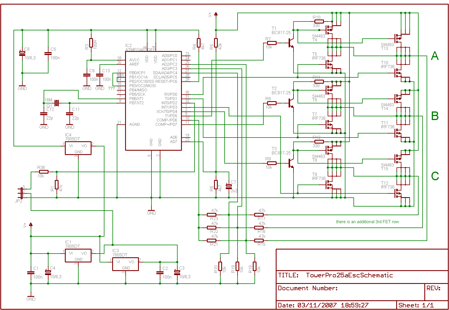 hight resolution of brushless electronic speed control motor schematics