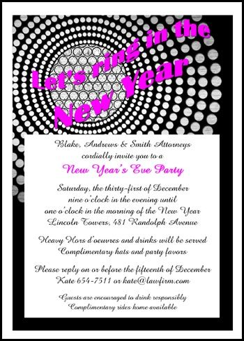 Chandelier Reflection Business New Yearu0027s Party Invitation Cards - corporate invitation text