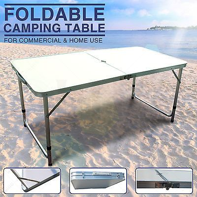 New Folding Aluminum Camping Table Potable Picnic Adjustable Dining Outdoor 4 Ft