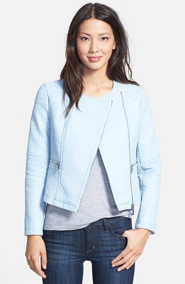 4a703f52d69e Women s Vince Camuto Collarless Faux Leather Jacket Ponerse