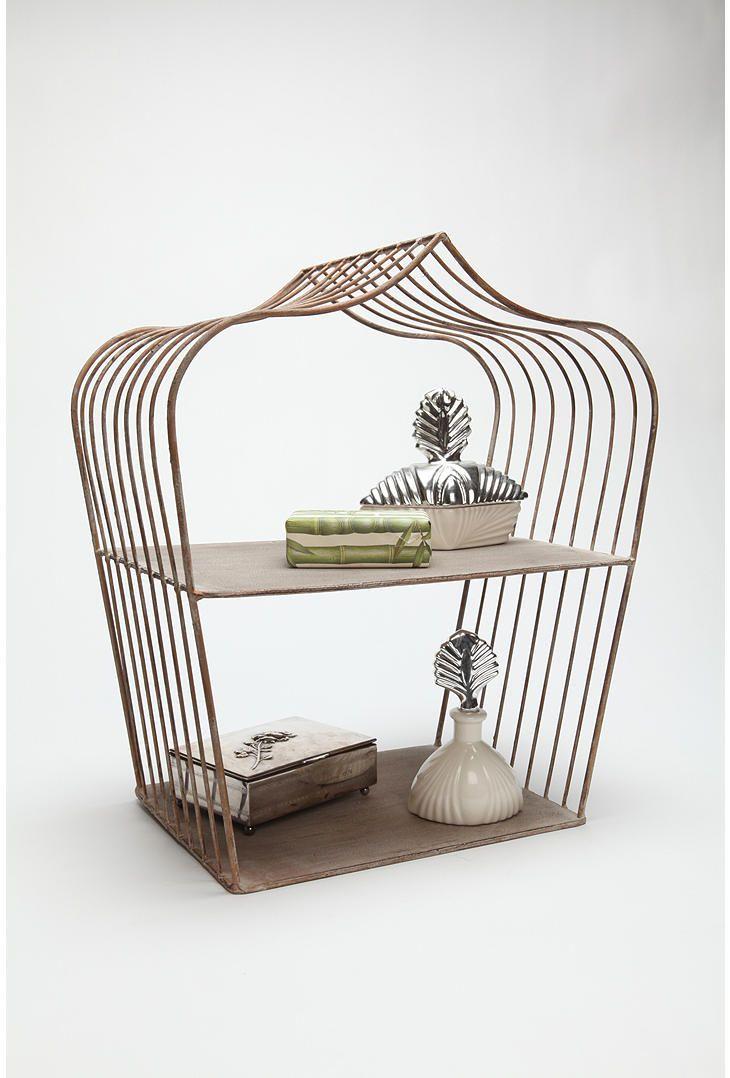 Wire Drop Shelf Shelves Bird Cage Decor