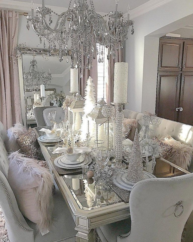 56 Luxury Christmas Table Decoration For Celebrating Christmas This Year Trendy Dining Room Christmas Dining Room Dining Room Design