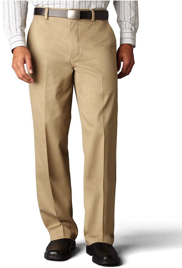 58 Dockers Signature Khaki Classic Fit Flat Front Pants Limited Quantities Khaki Pants Men Smart Casual Men Business Casual Men
