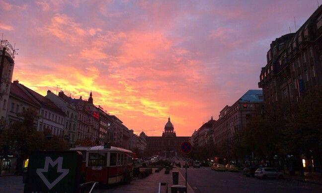 Prague - autumn morning