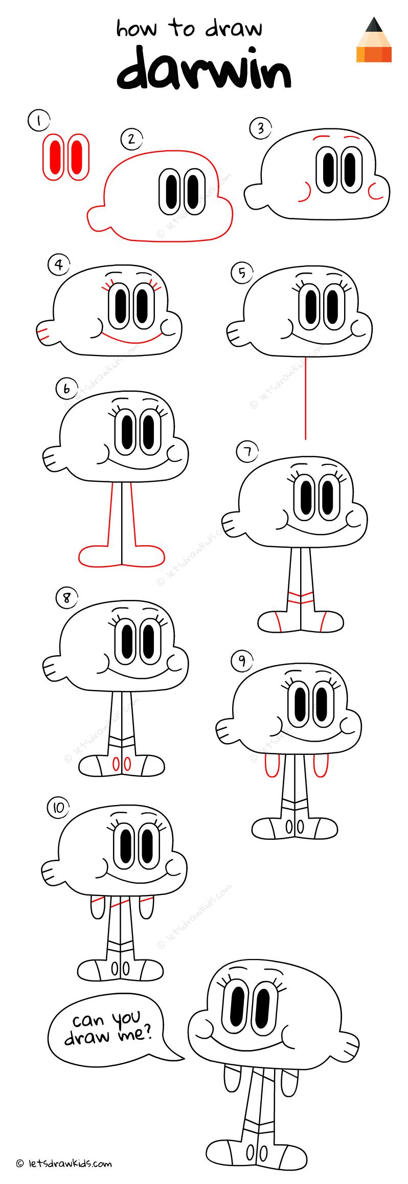 How To Draw Darwin