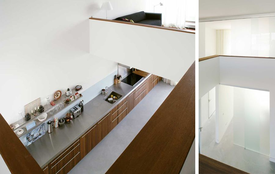 Vide In Huis : Vide blik naar keuken. ana architecten huis sw ls69 woonkamer