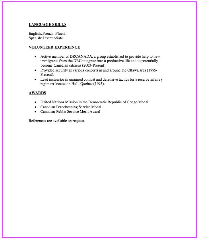 sample police officer resume httpexampleresumecvorgsample police - Police Volunteer Sample Resume