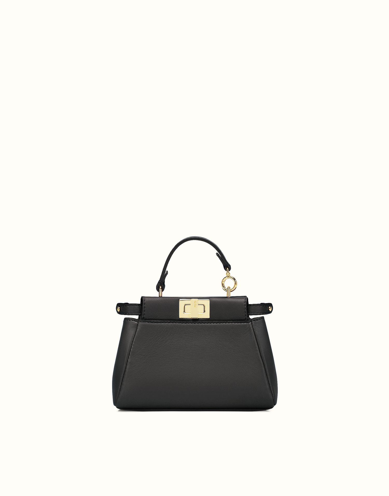 FENDI   MICRO PEEKABOO micro bag in black leather   handbag dreams ... e8e4c8bdbb