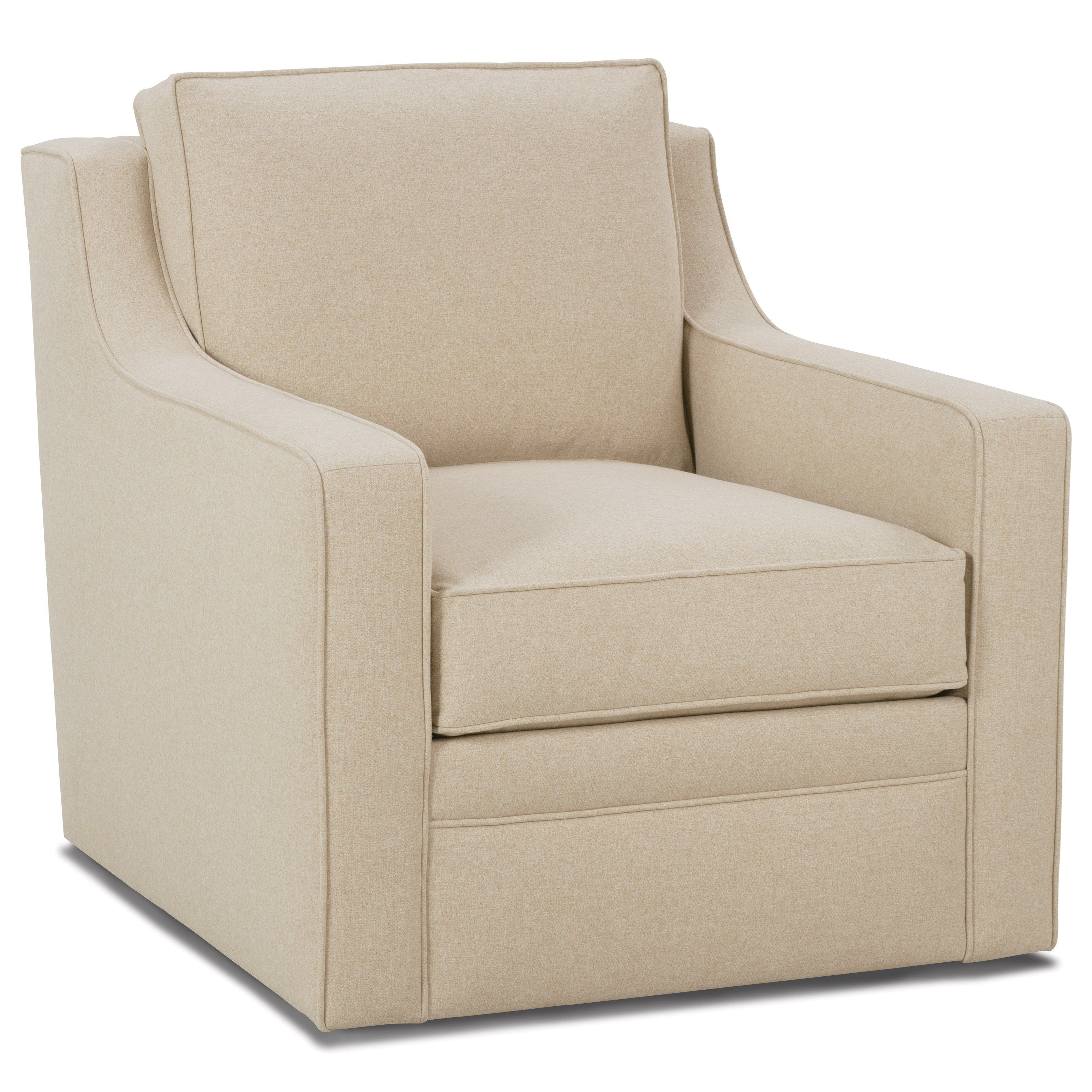 Fuller Transitional Swivel Chair By Rowe Furniture