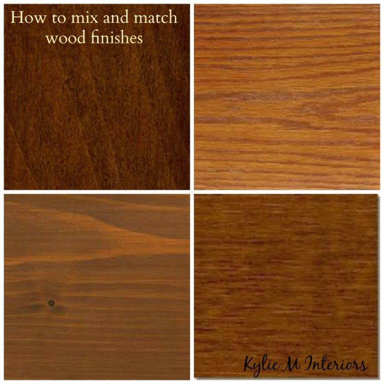 Kitchen Makeover For About 100 Give Your Orange Oak: How To Mix, Match And Coordinate Wood Stains / Undertones