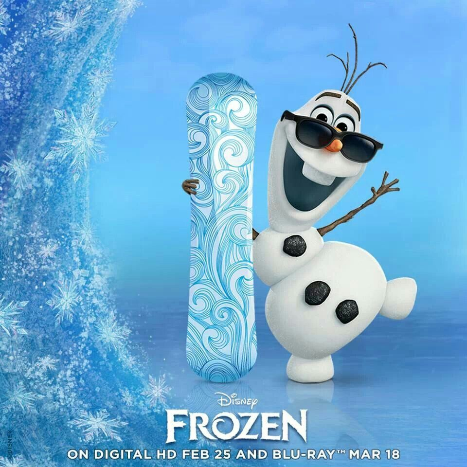 Olaf snowboards now!!!