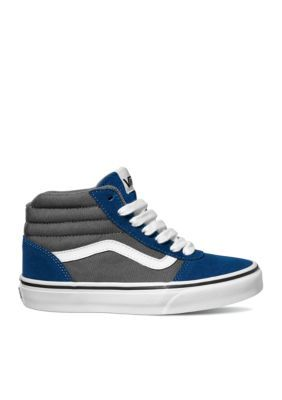 Vans Boys  Ward Hi-Top Two-Tone Sneakers - Toddler Youth Sizes - Blue Gray  - 11.5M Toddler f408af604