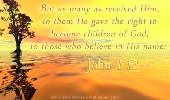JOHN 1:12 - BIBLE VERSES ||| ❤ But as many as received Him, to ...