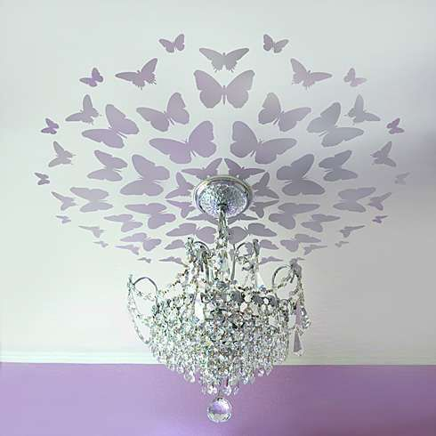 3D-mariposas, pájaros volando y ratones (tráfico) / decoración de la pared / SECOND STREET