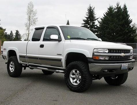 Cheap Lifted 4x4 Truck 2000 Chevrolet Silverado K1500 Ls Z71