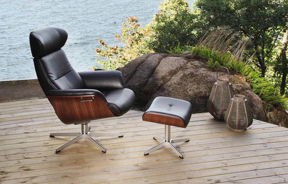 Relaxsessel Mit Hocker Leder Conform Timeout Relaxsessel Und Hocker X Fuß Aluminium Leder