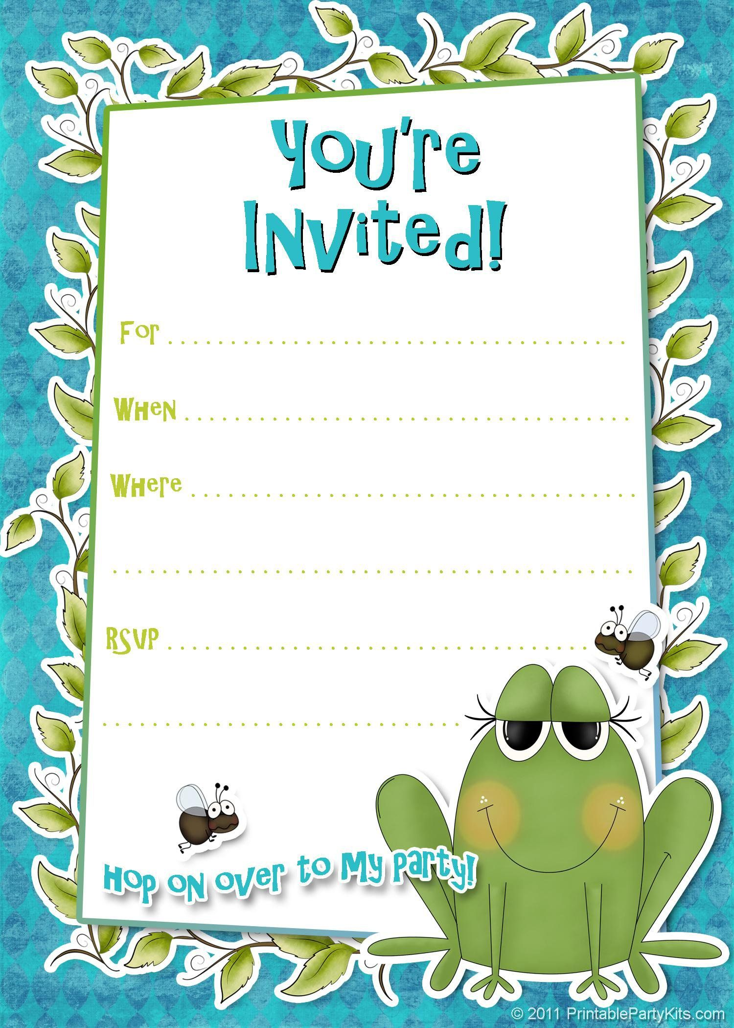 Birthday Party Invitation Templates Word  Birthday Invitation Template Word