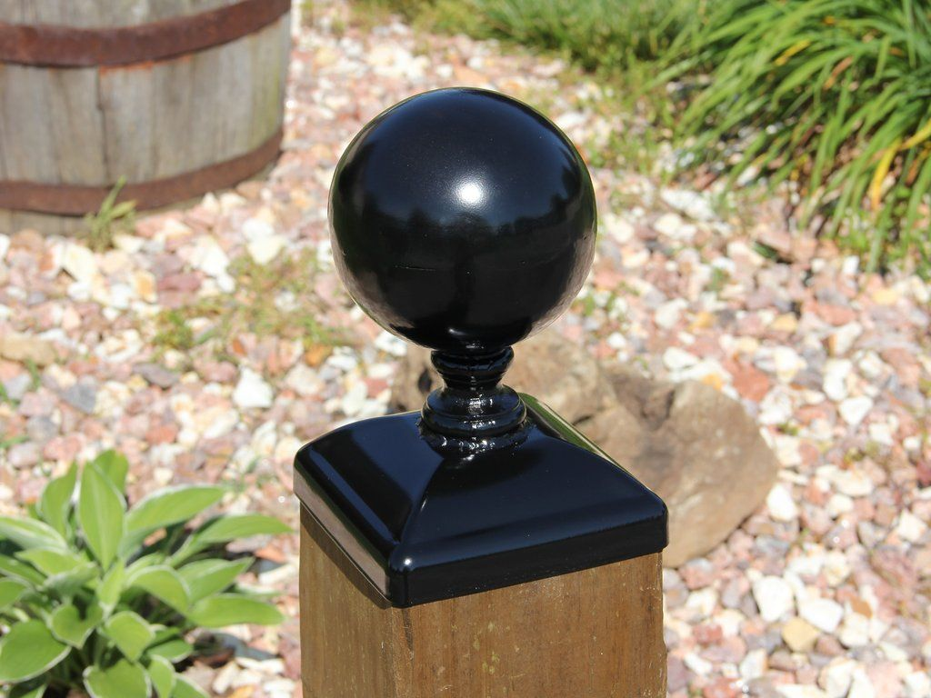 6x6 Fence Post Cap Large 5 Cannonball Post Top Fence Post Caps Fence Post Post Cap