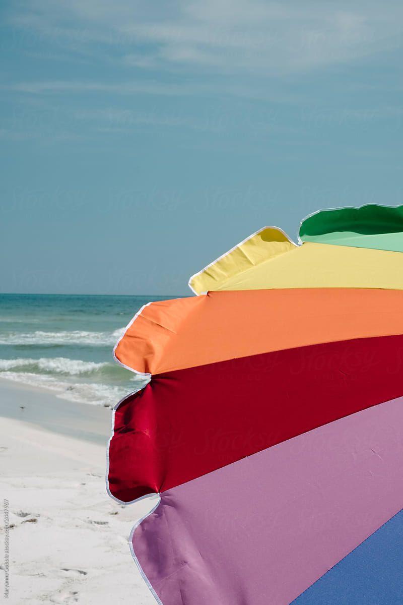 Summer Beach Colors Stocksy United The Edge Of A Rainbow Stripe