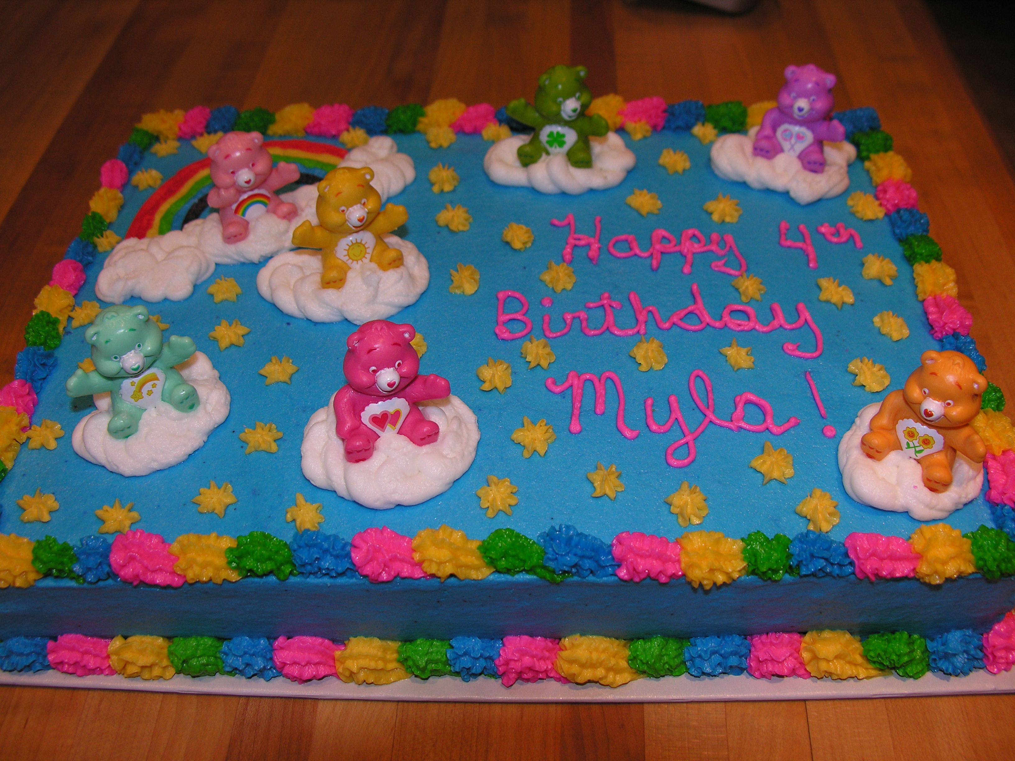 Care Bears Cake For Myla Cakes I Have Made Pinterest Care Bear