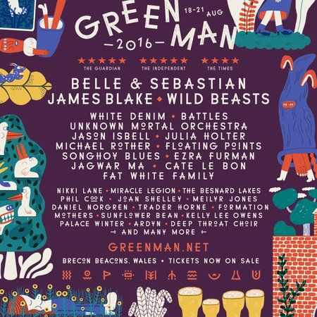 Belle & Sebastian, James Blake, Wild Beasts, more to play the UK's @GreenManFest: http://cos.lv/XzcSv