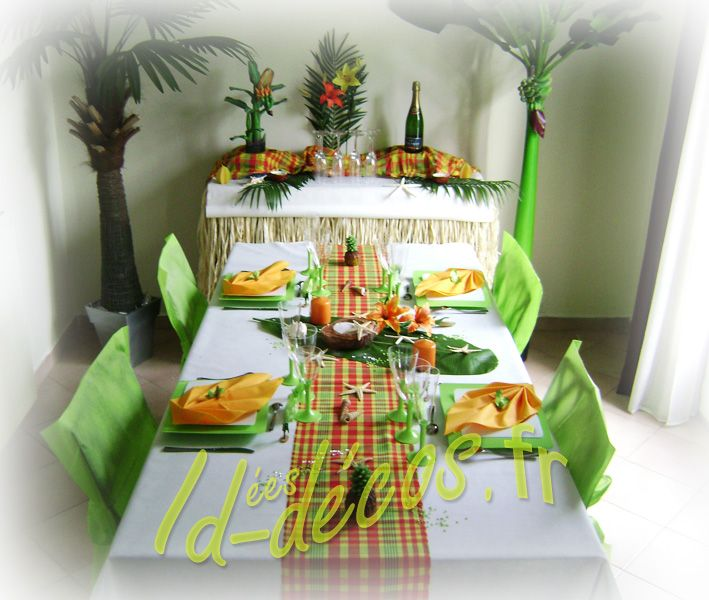 Decoration De Table Antillaise Madras Anniversaire Decoration