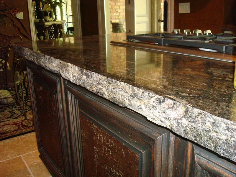 Chiseled Granite Tile Countertop Edge Options Design Idea Granite Countertops Prefabricated Granite Countertops Granite Countertops Kitchen