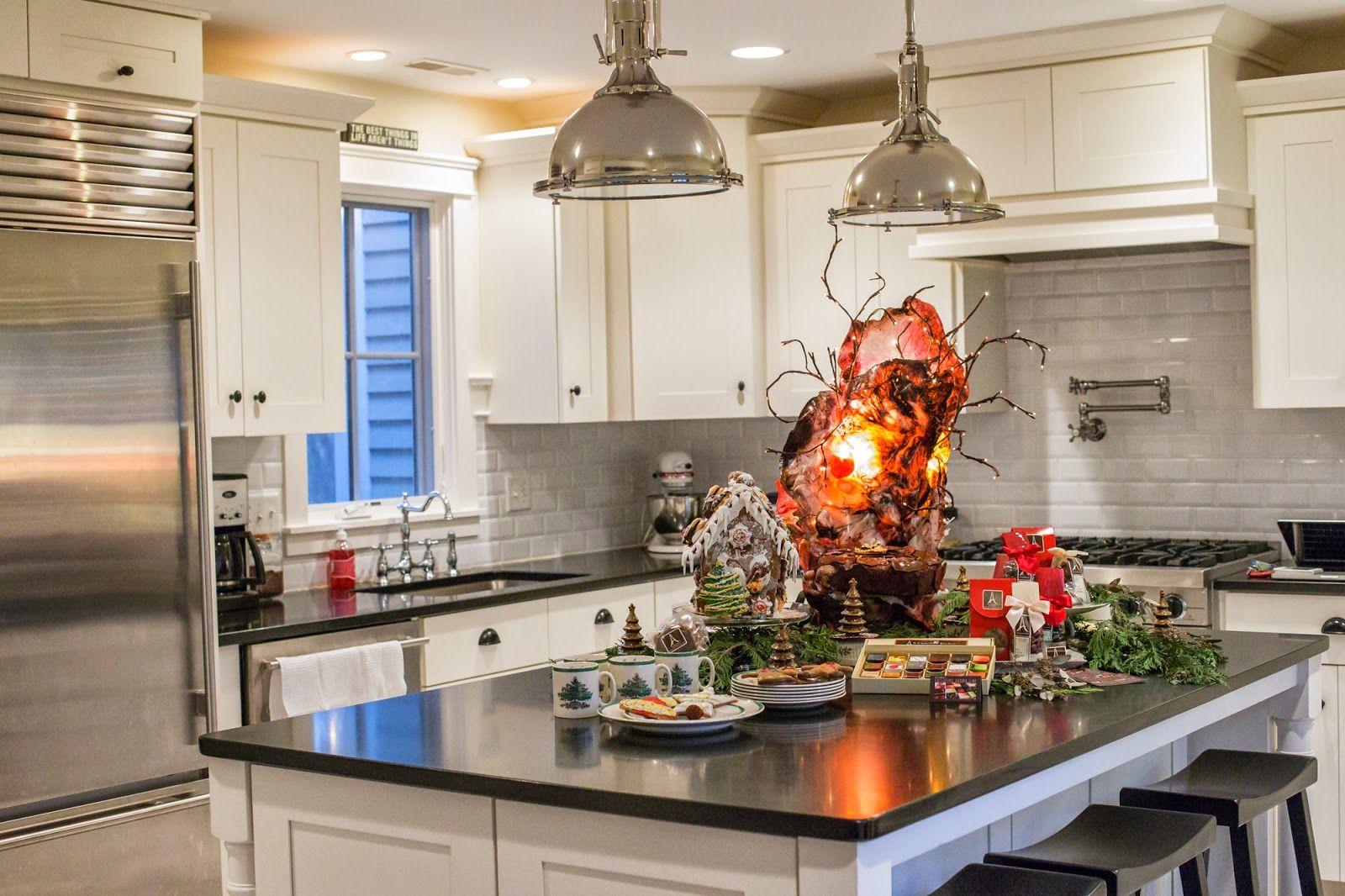 Best Geneva Christmas House Tour 2014 White Kitchen Trendy 400 x 300