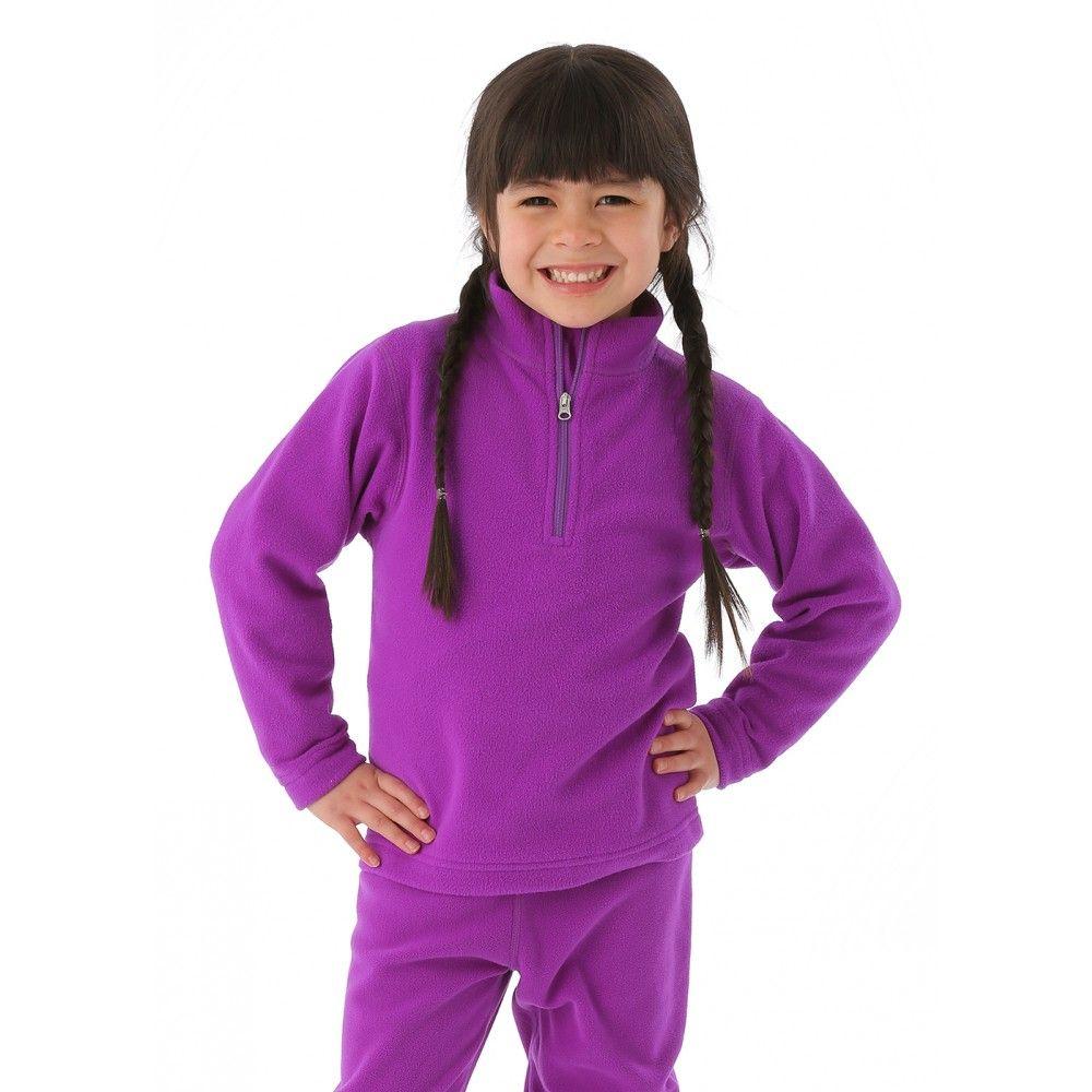Obermeyer Girls Ultragear 100 Micro Zip-T (Iris Purple)