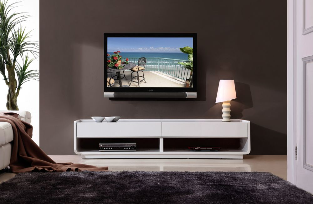 B Modern Designer Tv Stand In White By B Modern Floating Tv