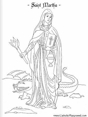 Pin By Kelly Puls On Re Ideas Saint Martha Coloring Pages Catholic