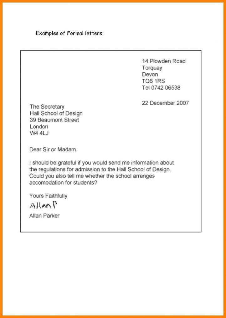Professional Letter Format Check more at   cleverhippoorg