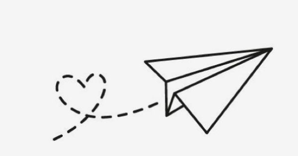 Pin De Dayana Orozco En Cuarto Tatuajes Faciles De Dibujar Aviones De Papel Dibujo Garabatos Simples