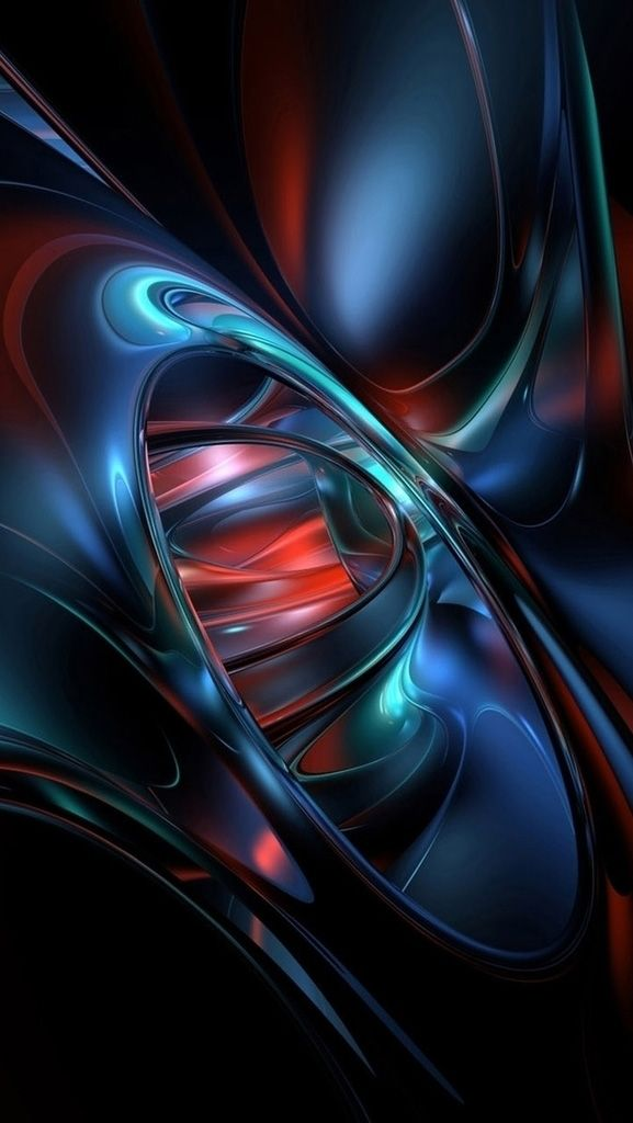 3d Abstract Iphone X Wallpaper Di 2020 Fraktal Abstrak Seni