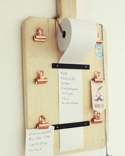 *Very Cute* DIY Einkaufslisten Organizer