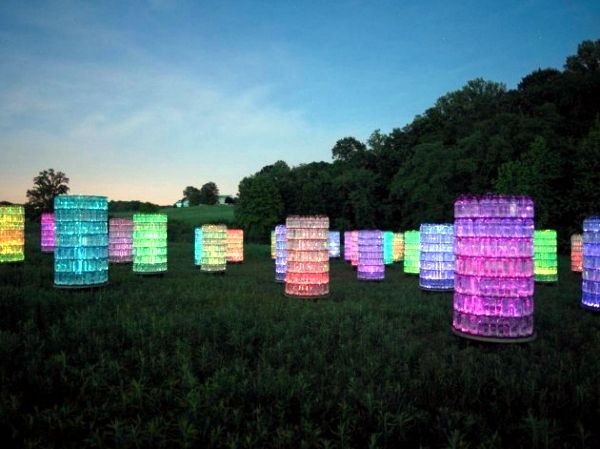 Modern Light Installation by Bruce Munro - the light as an art - vorh nge f r die k che