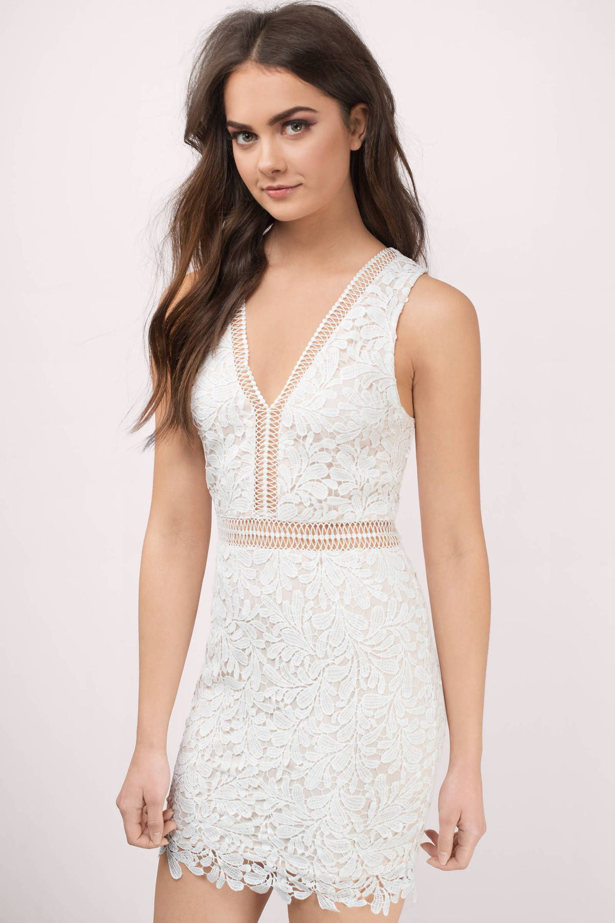 Looking for the Lei Ivory And Nude Lace Bodycon Dress? | Find ...