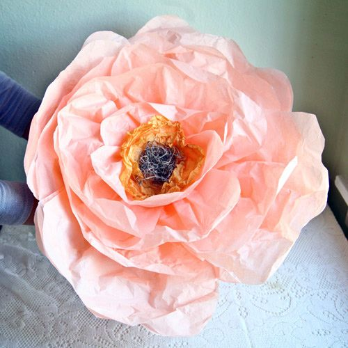 Paper flower diys thats clever pinterest giant flowers babble entertainment news and lifestyle for moms diy flowersflower diygiant paper flowerstissue mightylinksfo
