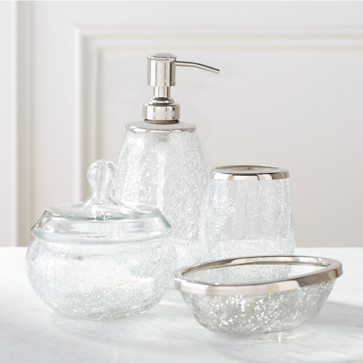 accessories pin crackle and bath bathroom collection ice glass paradigm