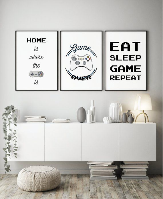 Set of Gaming Prints - Gamer Gifts | Retro Gaming Prints | Gamer Room Decor | Gaming Wall Art | Gaming Room Prints | A4 & A3 Gaming Prints #gamerroom