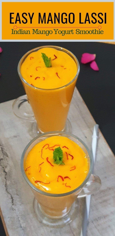 Easy mango lassi recipe indian mango yogurt smoothie