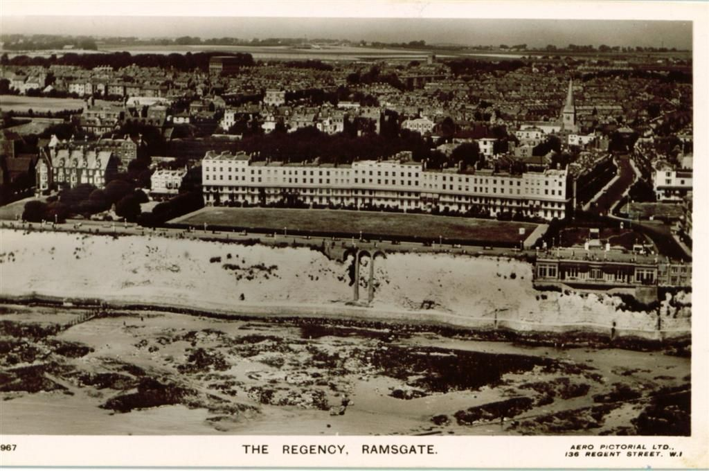 Hotel the regencyRegency Hotel and alongside the West Cliff Hall. In the background can be seen open fields which is today Newington Estate and surrounding area