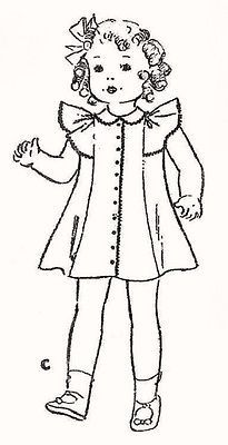 Vintage-Doll-Clothes-Pattern-449-size-16-or-22-Shirley