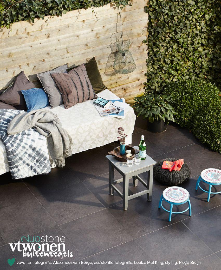 Keramische tegels buiten 20 mm houtlook en hardsteen look 60x60 cm ...